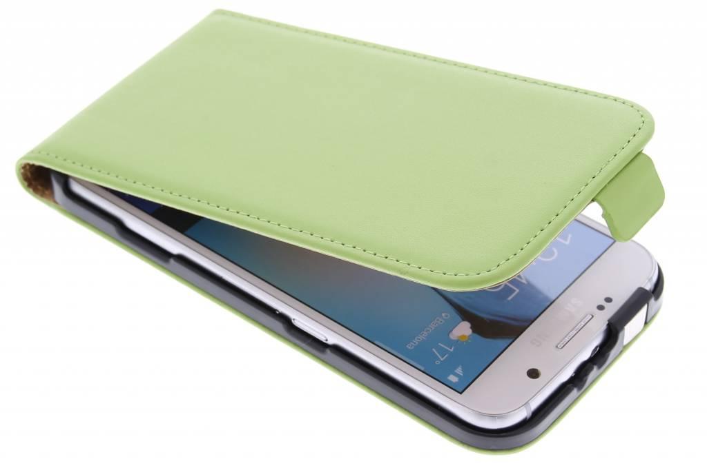 Groene luxe flipcase voor de Samsung Galaxy S6