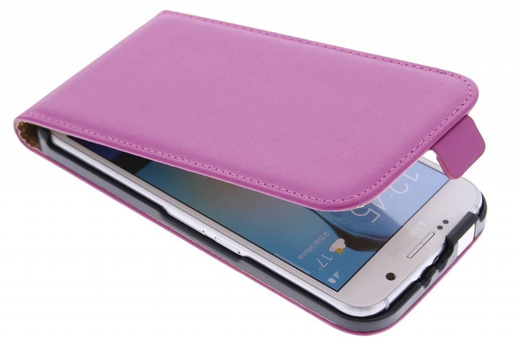 Fuchsia luxe flipcase voor de Samsung Galaxy S6