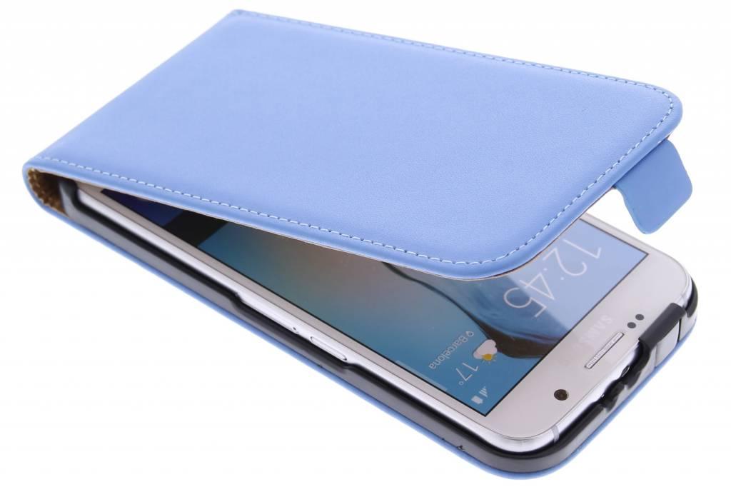 Blauwe luxe flipcase voor de Samsung Galaxy S6