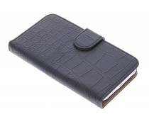 Zwart krokodil booktype hoes Samsung Galaxy J1