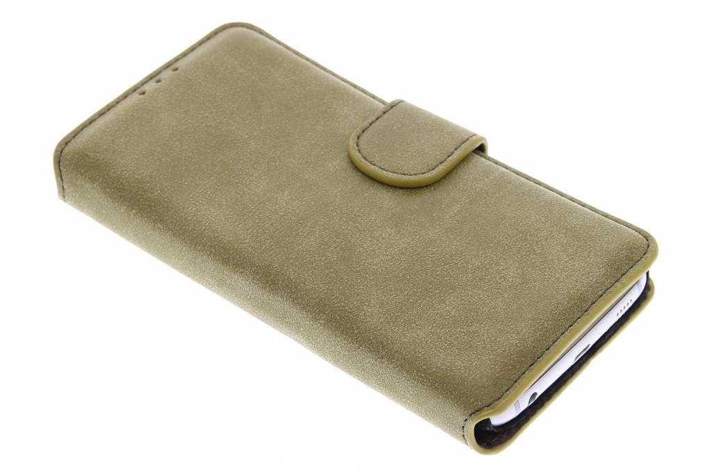 Groene suède look booktype hoes voor de Samsung Galaxy S6