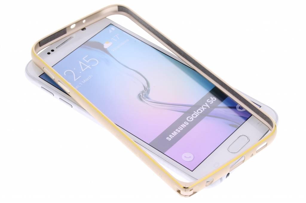 Nillkin Gothic Metal Frame bumper voor de Samsung Galaxy S6 - goud