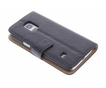 Kreukelleder booktype hoes Samsung Galaxy S5 Mini