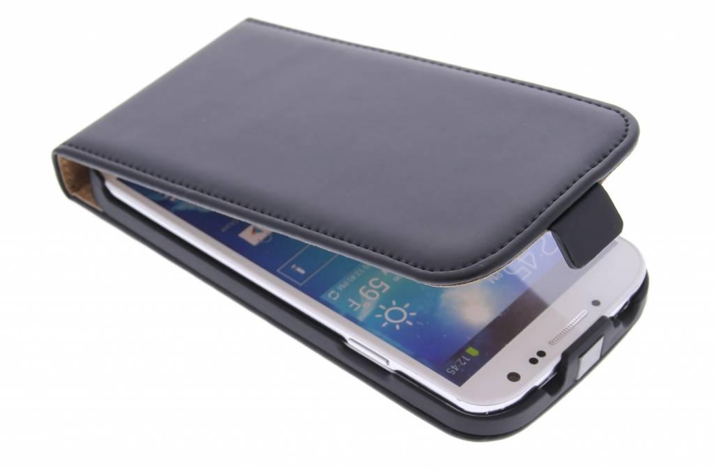 Selencia Luxe Flipcase voor de Samsung Galaxy S4 - Zwart