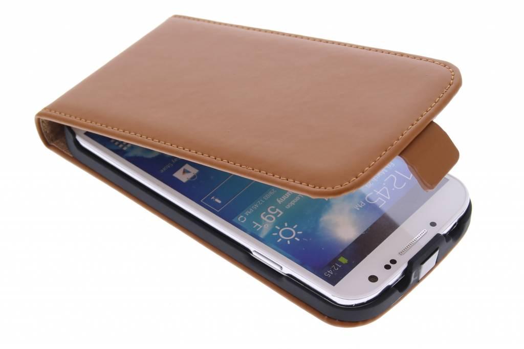 Selencia Luxe Flipcase voor de Samsung Galaxy S4 - Bruin