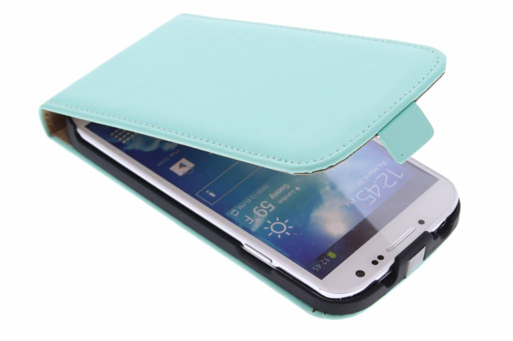 Selencia Luxe Flipcase voor de Samsung Galaxy S4 - Mintgroen