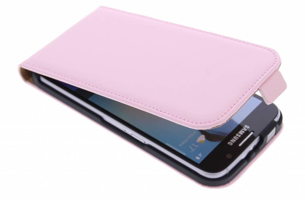 Luxe Flipcase flipcase voor de Samsung Galaxy S6 - Poederroze