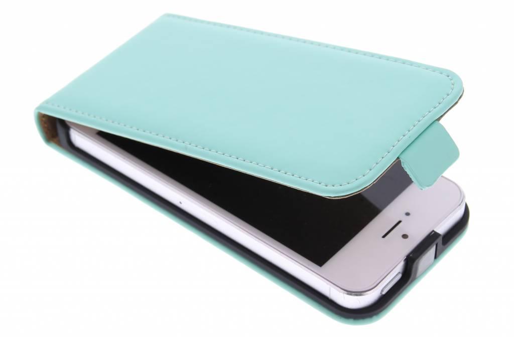 Selencia Luxe Flipcase voor de iPhone 5 / 5s / SE - Mintgroen
