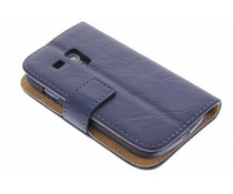 Kreukelleder booktype hoes Samsung Galaxy S3 Mini