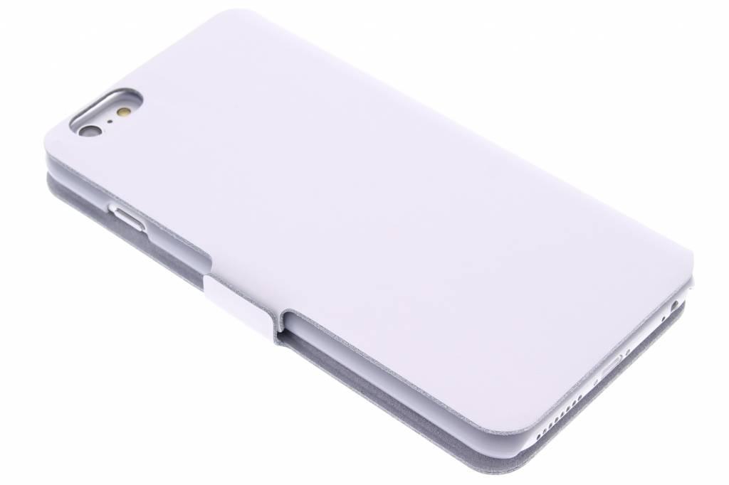 Witte luxe booktype hoes voor de iPhone 6(s) Plus