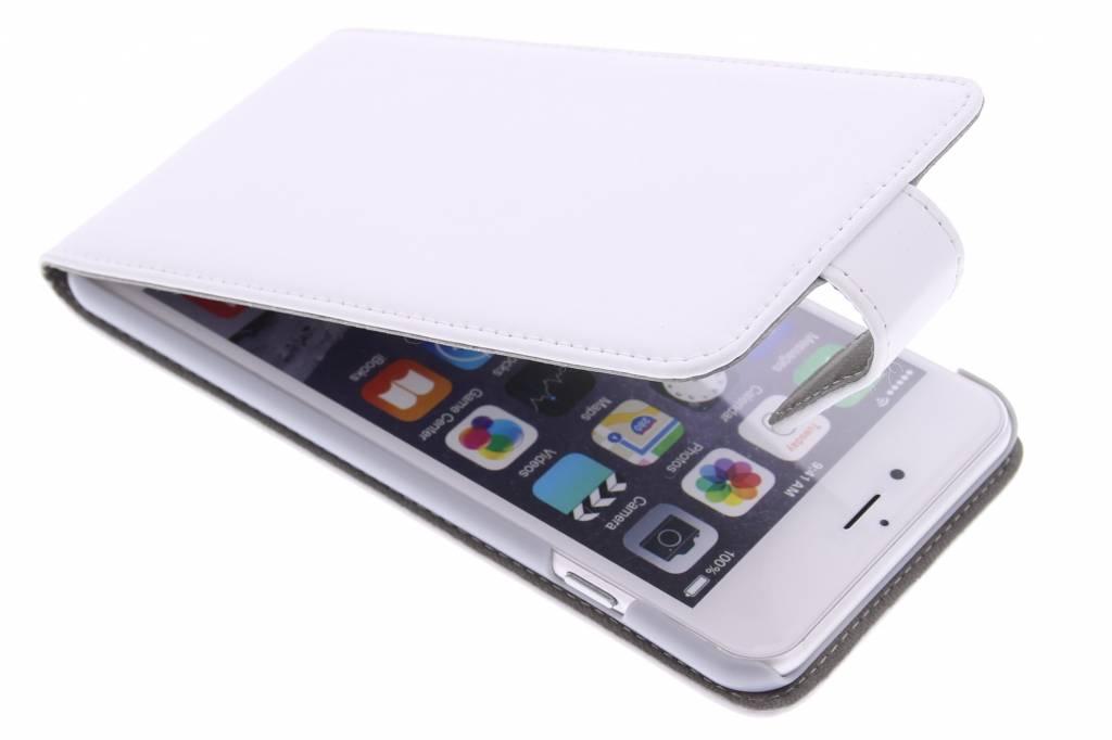 Witte stijlvolle flipcase voor de iPhone 6(s) Plus