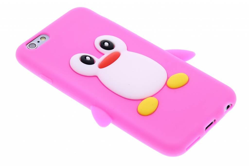 Fuchsia pinguin siliconen hoesje voor de iPhone 6 / 6s