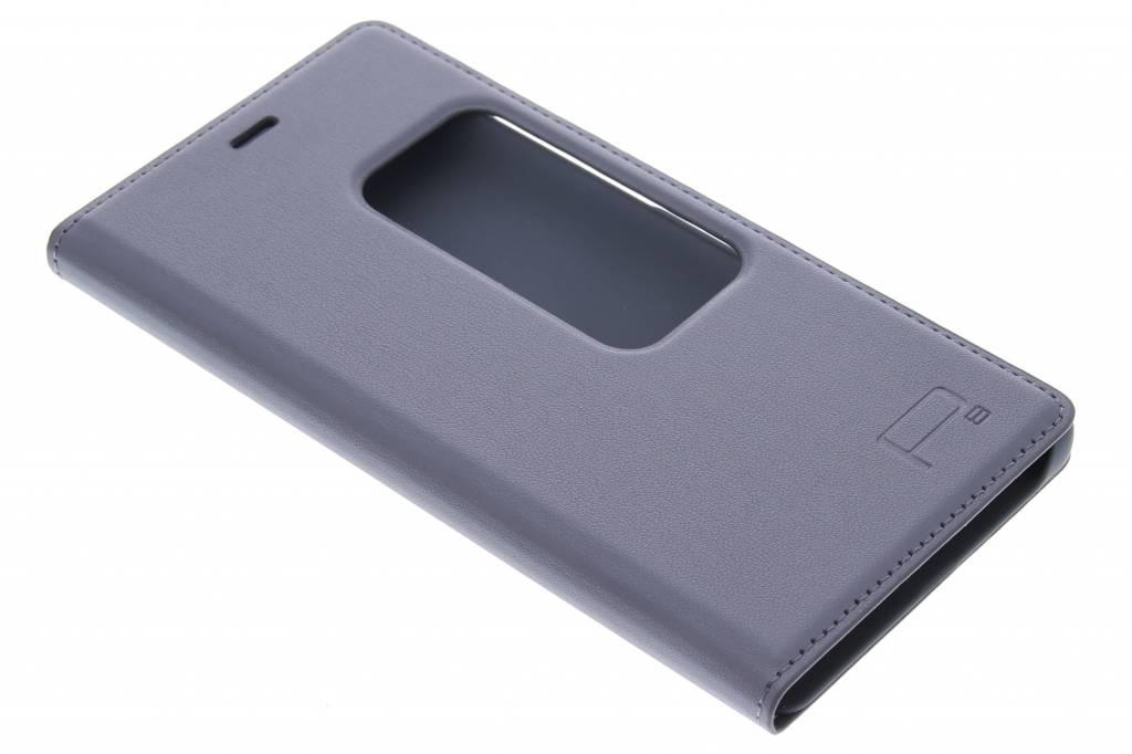 Grijze slim booktype met venster voor de Huawei P8