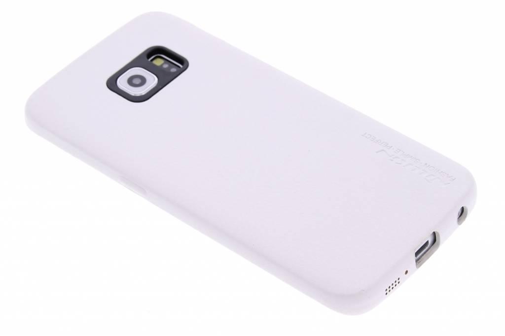 Nillkin Victoria leahter hardcase hoesje voor de Samsung Galaxy S6 Edge - wit