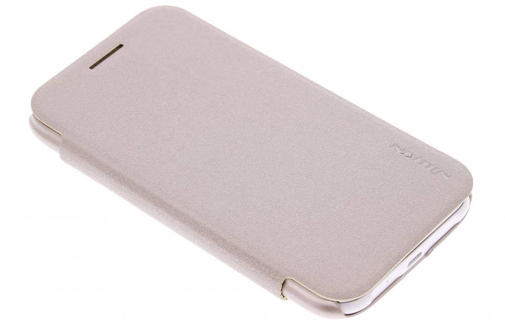 Nillkin Sparkle slim booktype hoes voor de Samsung Galaxy J1 - Goud