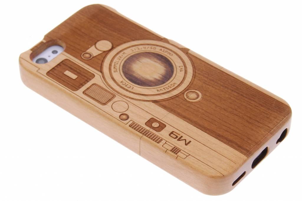 Echt houten hardcase hoesje met print voor de iPhone 5c
