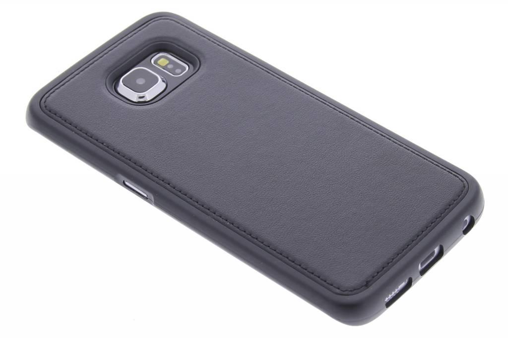 Zwarte lederen TPU case voor de Samsung Galaxy S6 Edge
