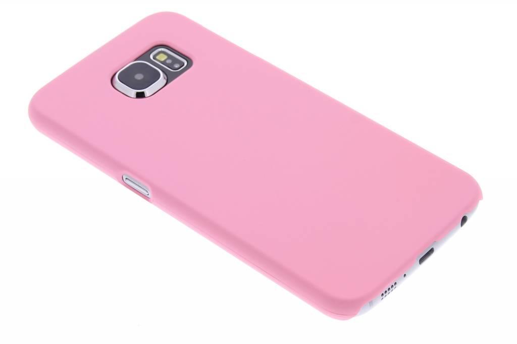 Roze effen hardcase hoesje voor de Samsung Galaxy S6