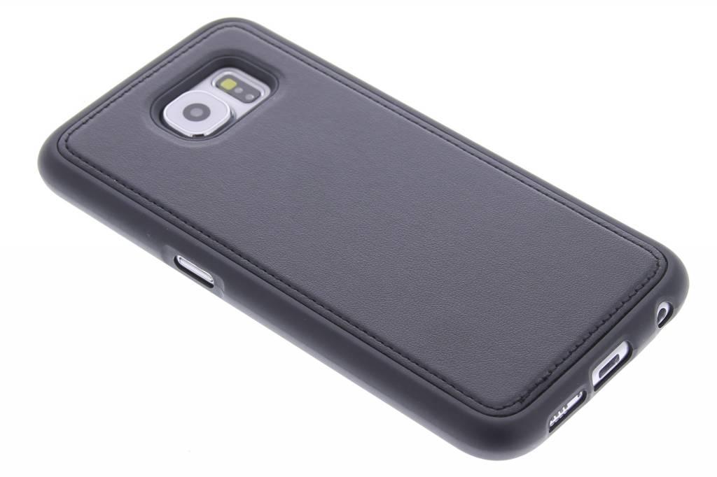 Zwarte lederen TPU case voor de Samsung Galaxy S6