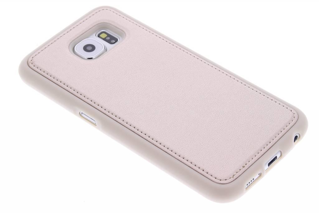 Gouden lederen TPU case voor de Samsung Galaxy S6