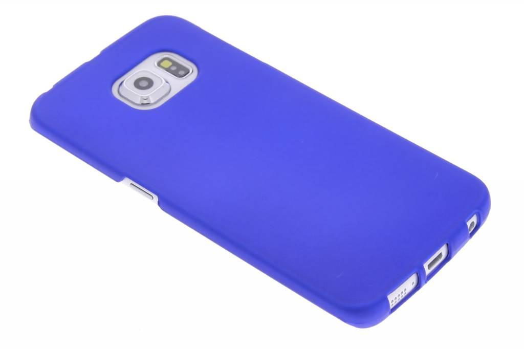 Blauw effen hardcase hoesje voor de Samsung Galaxy S6 Edge