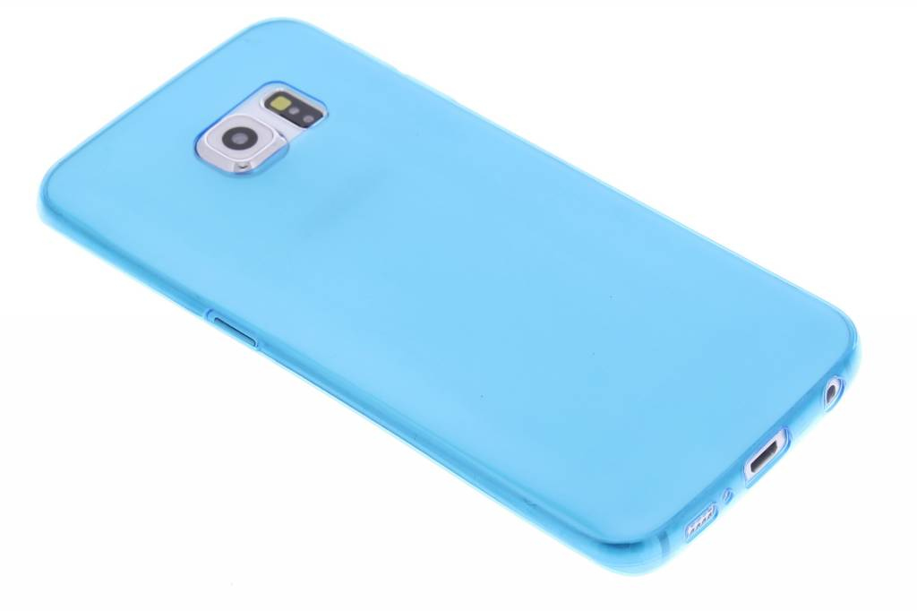 Blauwe ultra thin transparant TPU hoesje voor de Samsung Galaxy S6 Edge