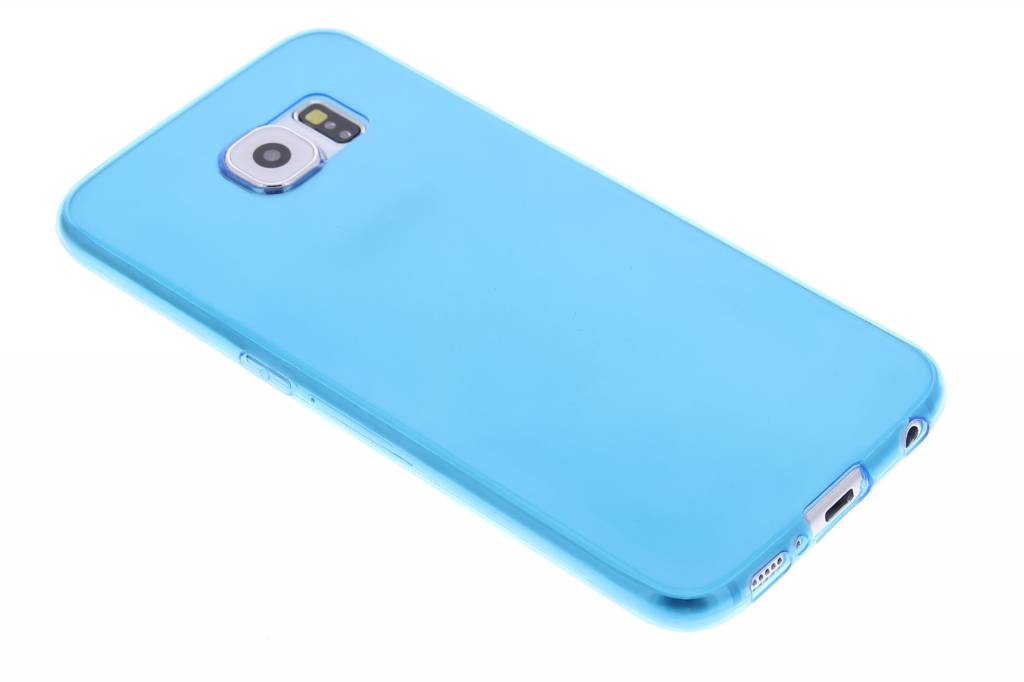 Blauw ultra thin transparant TPU hoesje voor de Samsung Galaxy S6