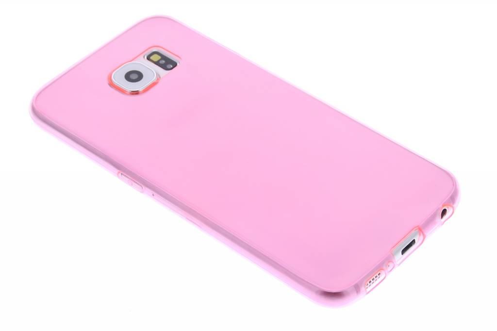 Roze ultra thin transparant TPU hoesje voor de Samsung Galaxy S6