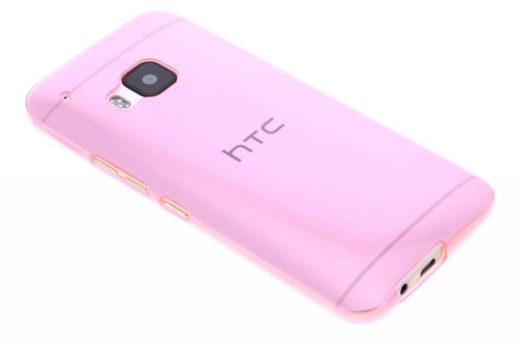 Roze ultra thin transparant TPU hoesje voor de HTC One M9