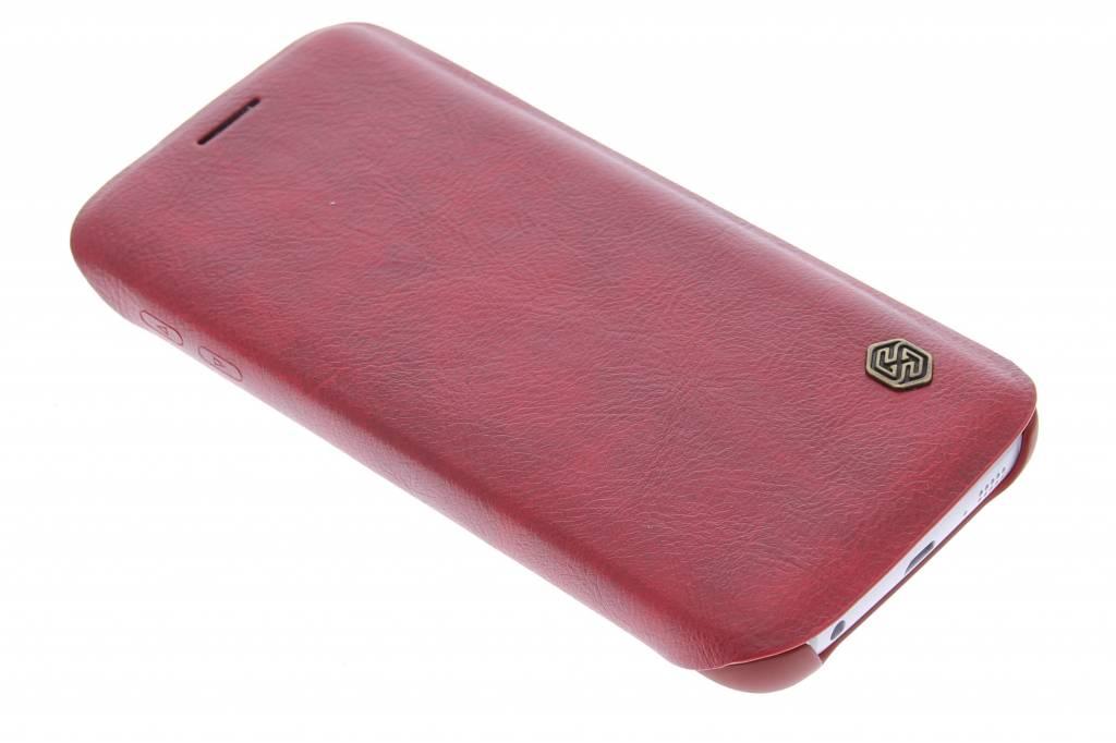 Nillkin Qin Leather slim booktype hoes voor de Samsung Galaxy S6 Edge - rood