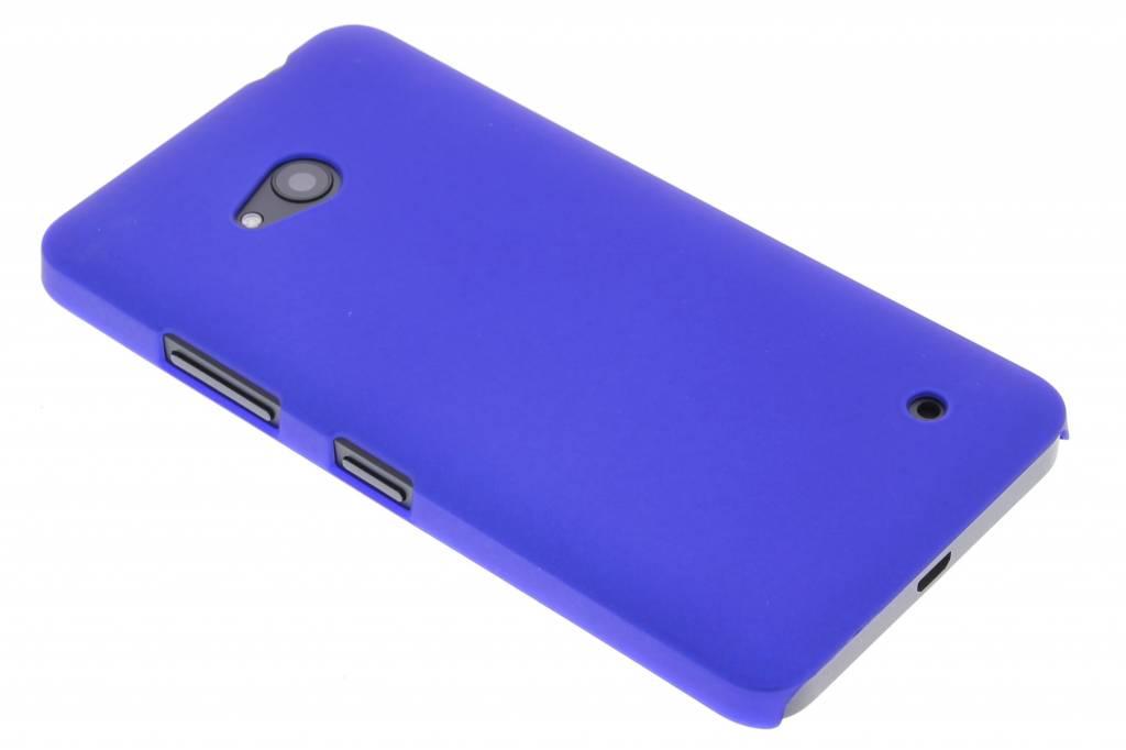 Blauw effen hardcase hoesje voor de Microsoft Lumia 640