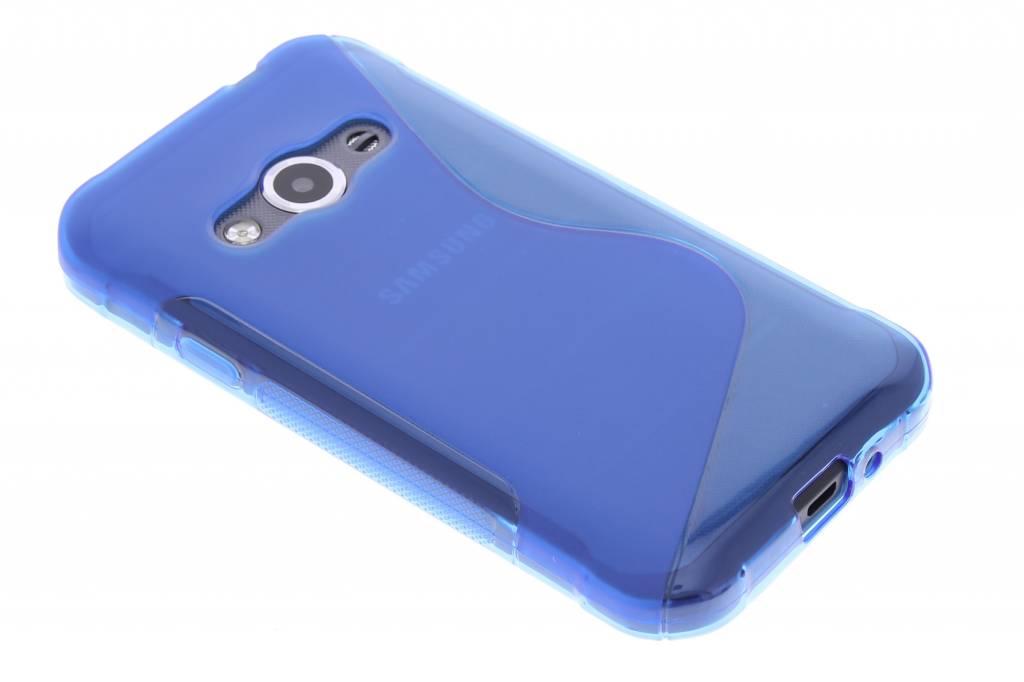 Blauw S-line TPU hoesje voor de Samsung Galaxy Xcover 3