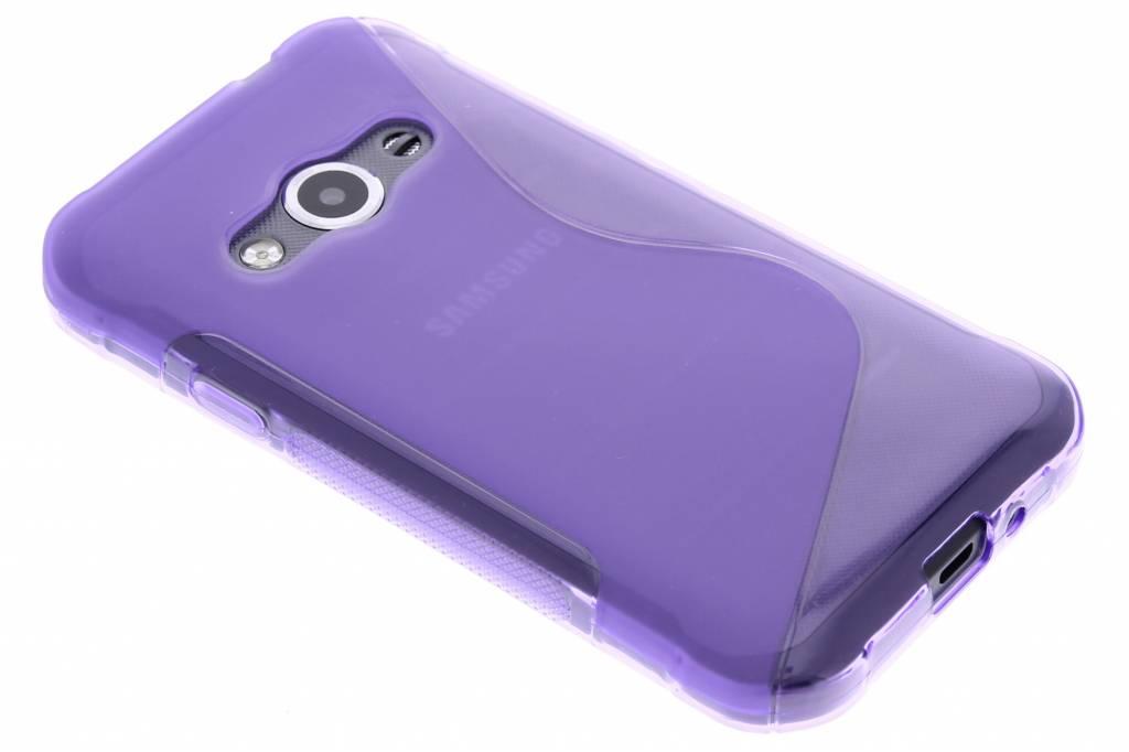 Paars S-line TPU hoesje voor de Samsung Galaxy Xcover 3