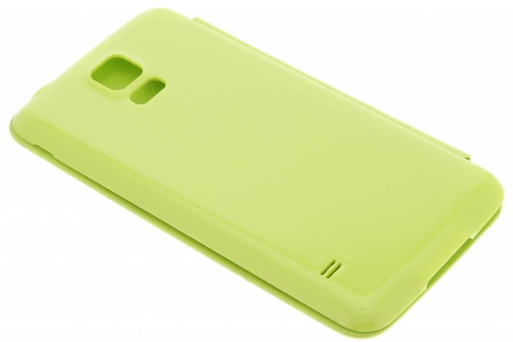 Vert Brillant Couvercle Rabattable Pour Samsung Galaxy S5 (plus) 0bHwJSzh