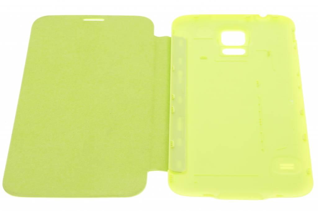 Vert Brillant Couvercle Rabattable Pour Samsung Galaxy S5 (plus) pTLxtExXl