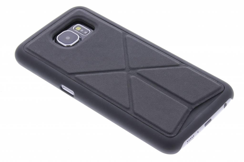 Zwart hardcase hoesje met standaard voor de Samsung Galaxy S6