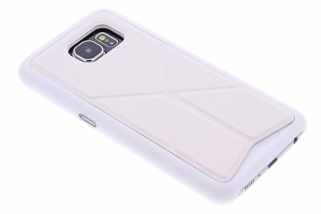 Wit hardcase hoesje met standaard voor de Samsung Galaxy S6