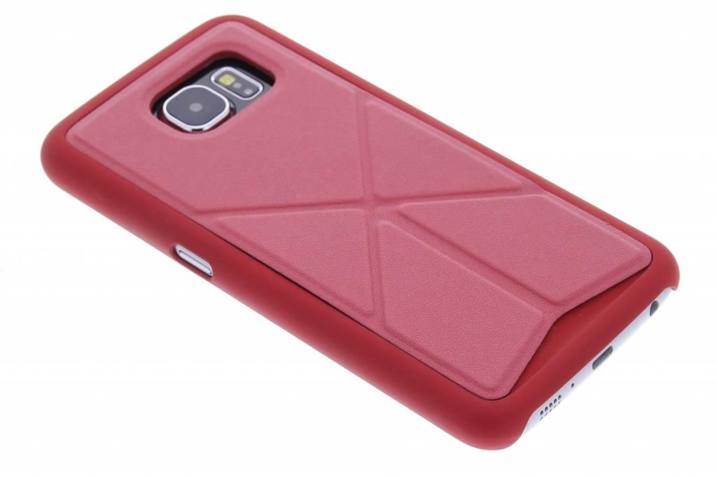 Rood hardcase hoesje met standaard voor de Samsung Galaxy S6