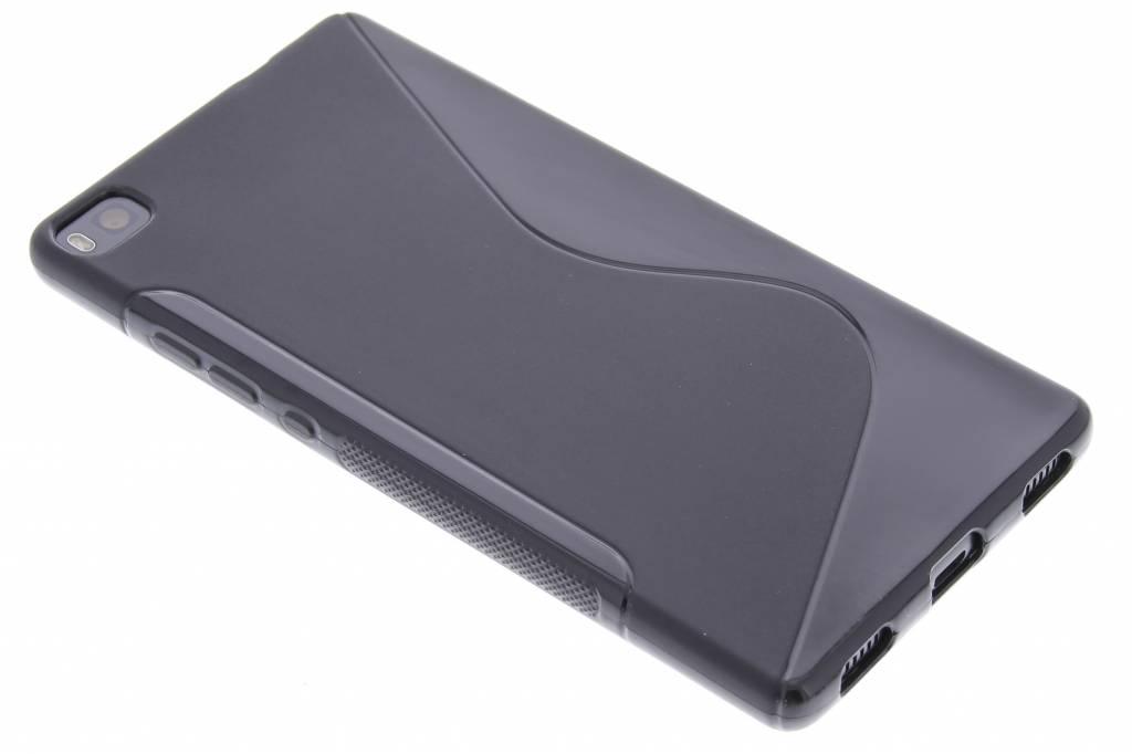 Zwart S-line TPU hoesje voor de Huawei P8