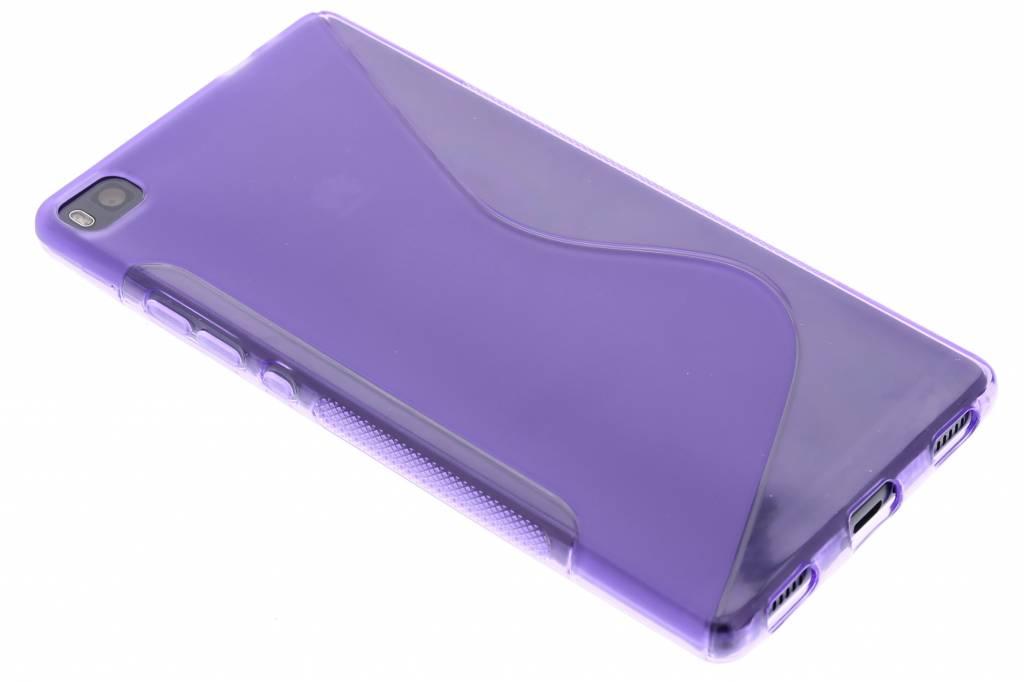 Paars S-line TPU hoesje voor de Huawei P8