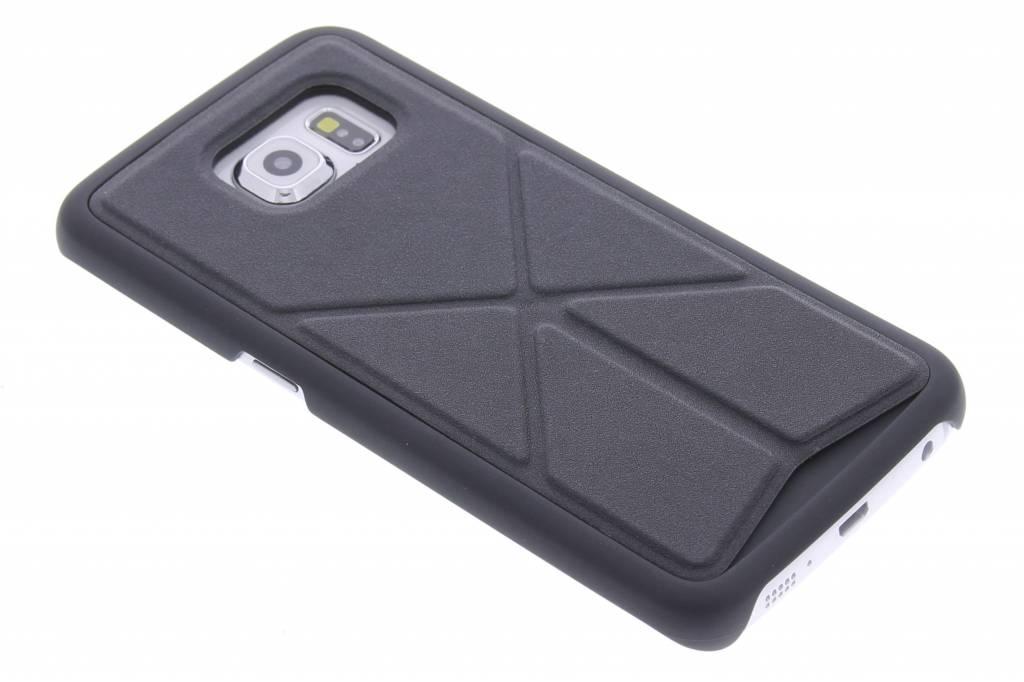Zwart hardcase hoesje met standaard voor de Samsung Galaxy S6 Edge