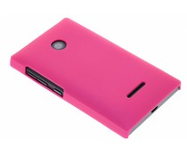 Fuchsia effen hardcase hoesje Microsoft Lumia 435