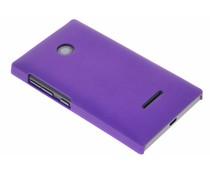 Paars effen hardcase hoesje Microsoft Lumia 435