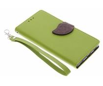 Groen blad design TPU booktype hoes Huawei P8