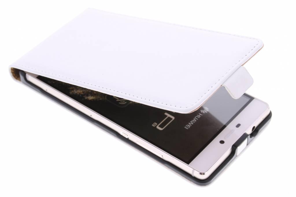 Witte luxe flipcase voor de Huawei P8