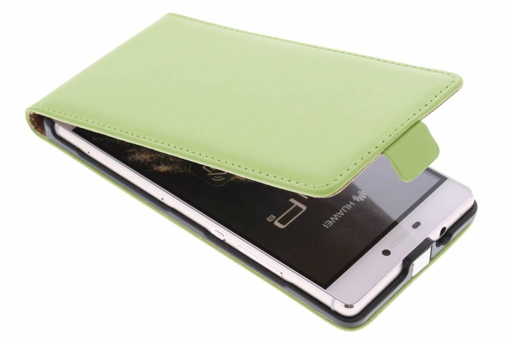 Groene luxe flipcase voor de Huawei P8