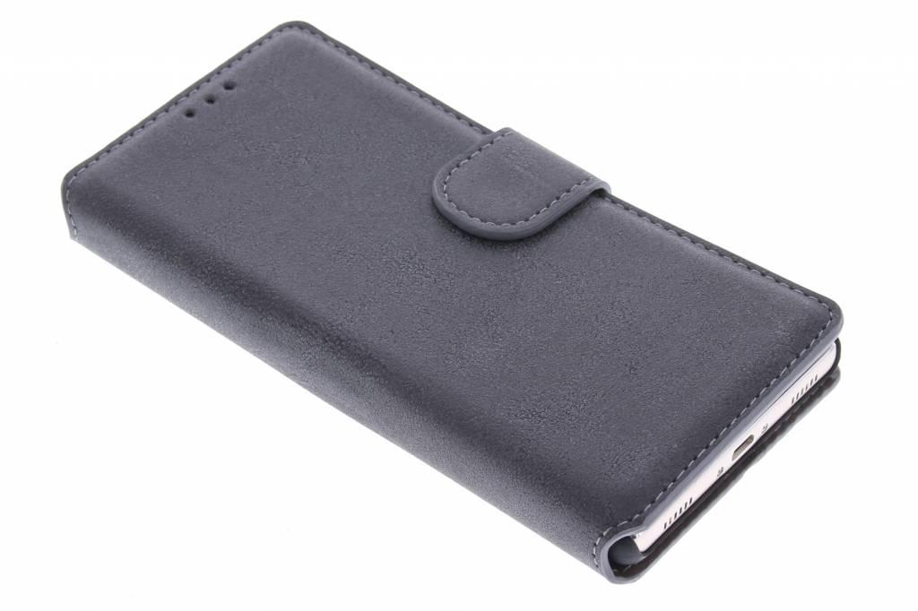 Grijze suède look booktype hoes voor de Huawei P8