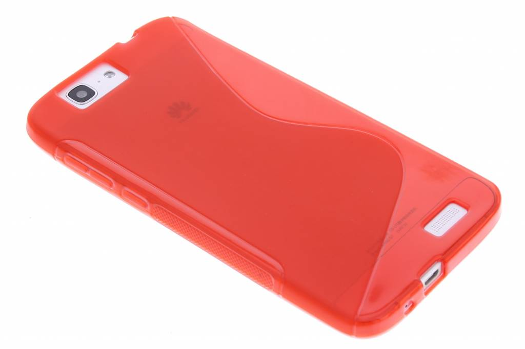 Rood S-line TPU hoesje voor de Huawei Ascend G7