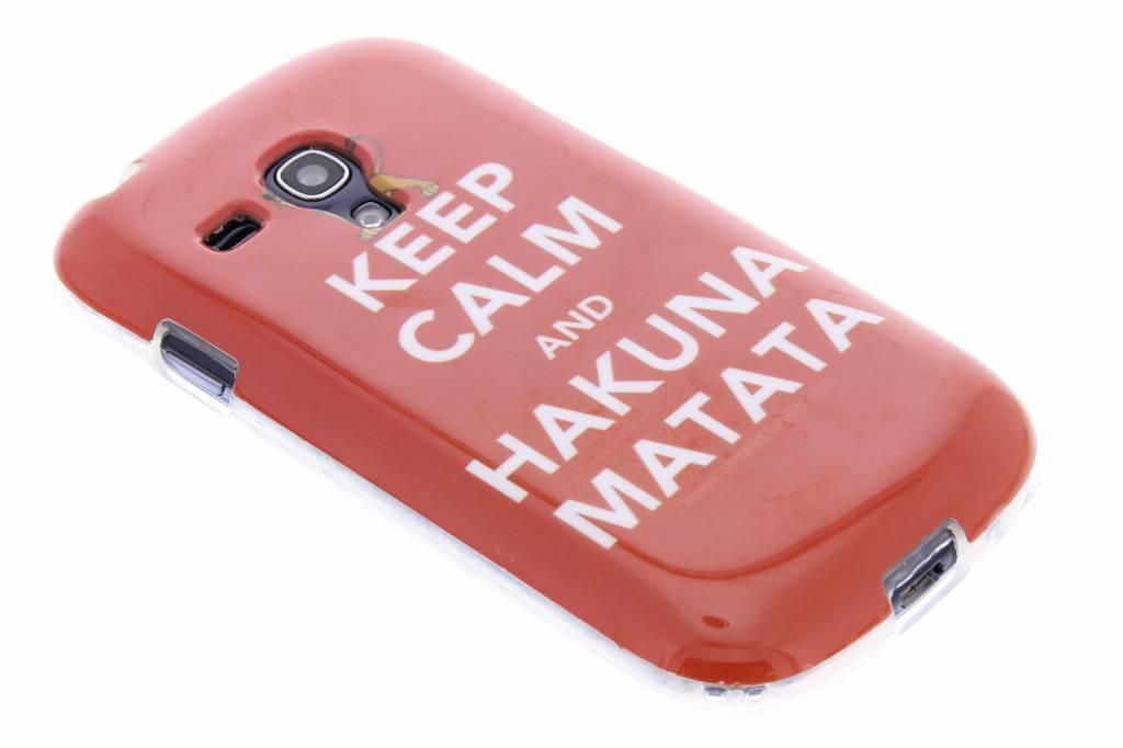 Hakuna matata design TPU siliconen hoesje voor de Samsung Galaxy S3 Mini