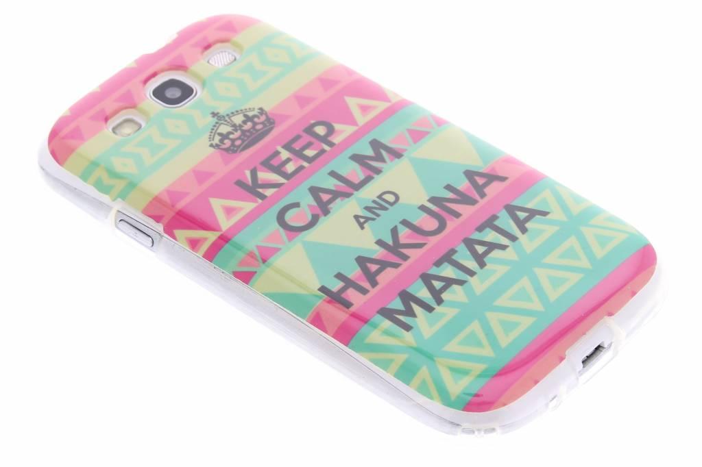 Hakuna Matata design TPU siliconen hoesje voor de Samsung Galaxy S3 / Neo